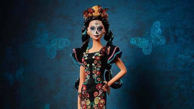 骷髅脸!芭比娃娃将推出亡灵节版本