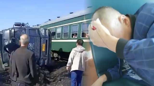客运绿皮车与拉煤车相撞,部分脱轨