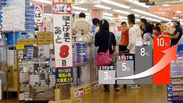 直播:消费税涨至10%,日本囤货抢购