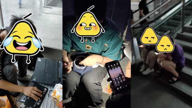 返程候车众生相:刺绣游戏玩手机…