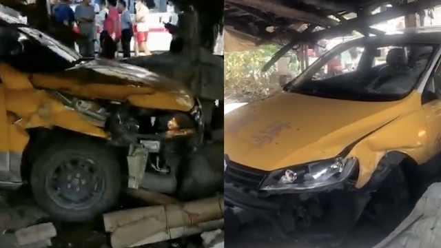 教练车与两辆电动车相撞,致1死2伤