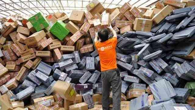 中国快递量超美日欧总和!