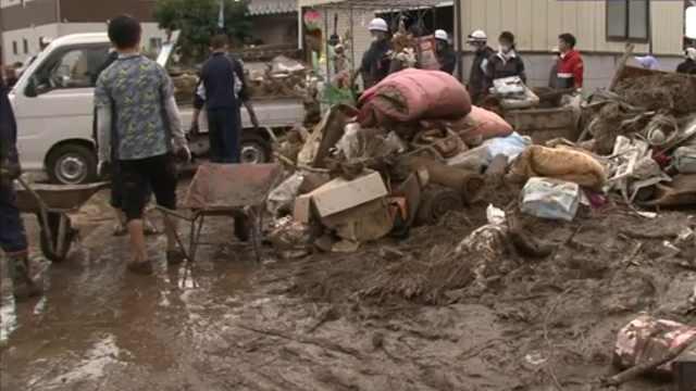 日本66处河堤被冲垮,61人死亡