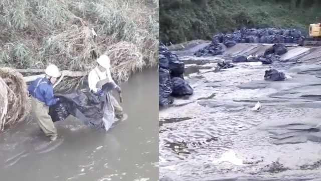 台风冲走福岛核废料,只找回空袋子