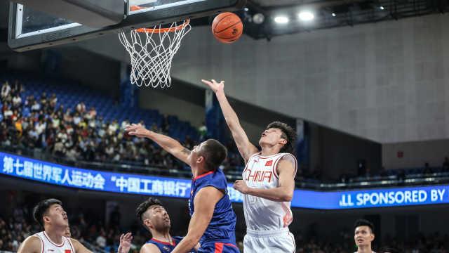 开门红!军运会中国男篮大胜蒙古
