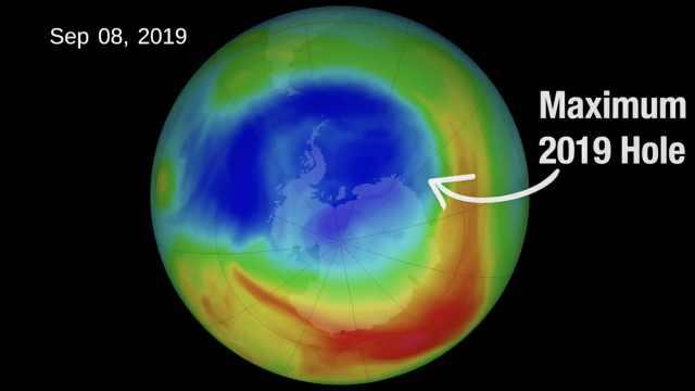 NASA:臭氧层空洞面积缩至40年最小