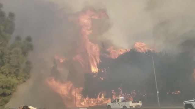 加州大火烧到好莱坞!危及华纳公司
