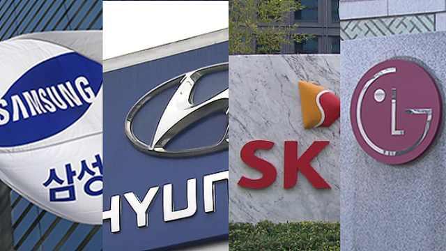 韩十大集团三季度营业利润骤减75%