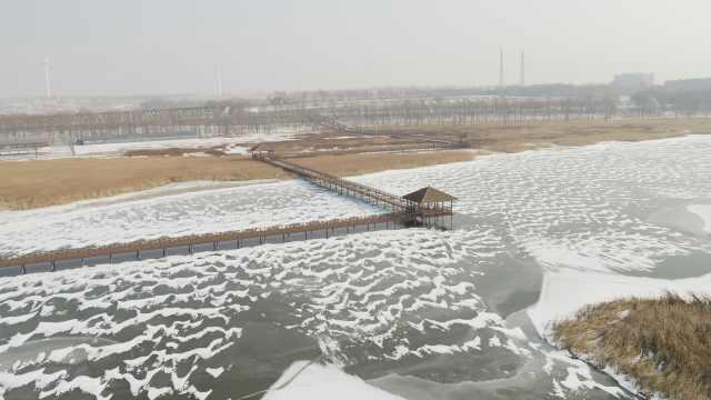 查干湖冰封美如画,再等半月可冬捕