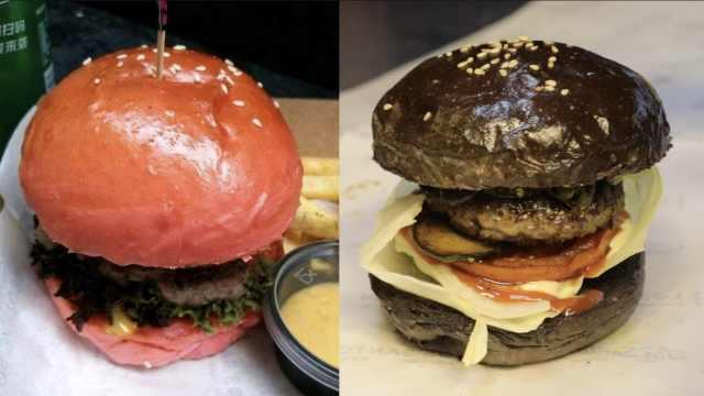 黑色粉色超Q萌,这家汉堡没吃先爱上