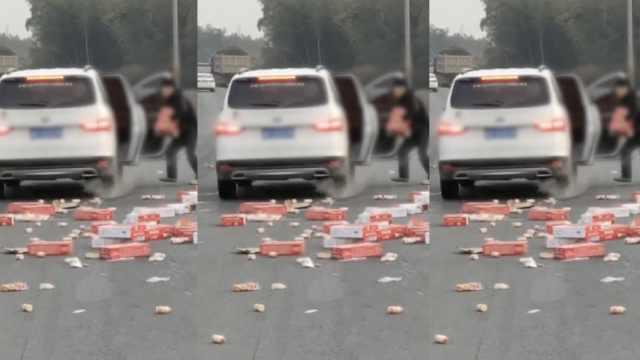 货物侧翻遭哄抢,路人嚣张无视警告