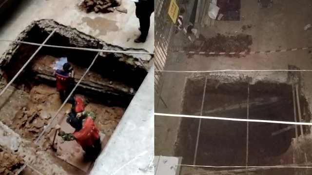 广州一小区加装电梯,挖出汉代古墓