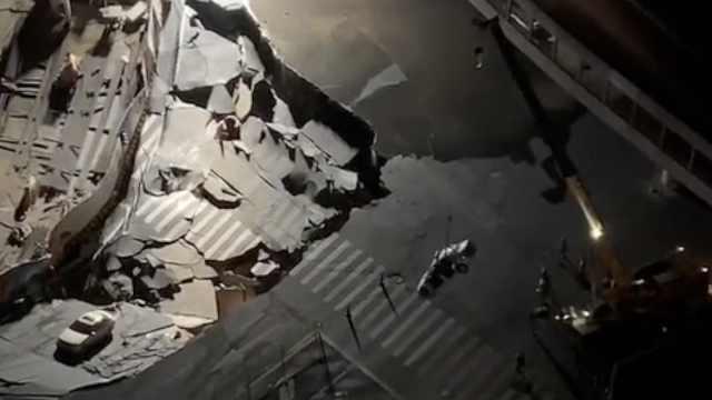 厦门市区路面塌陷,亲历者还原现场