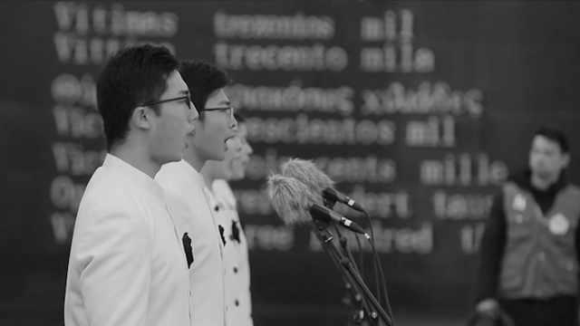 南京一中82名学生朗诵《和平宣言》