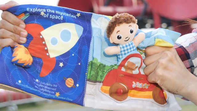 宝宝早教玩具首选布书,趣味玩乐