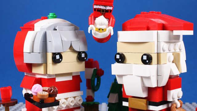圣诞老人和圣诞婆婆模型