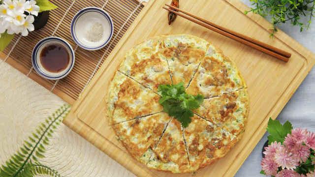 鲜美酥香原汁原味的潮汕蚝烙