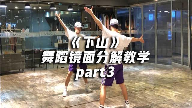 《下山》舞蹈镜面分解教学part3