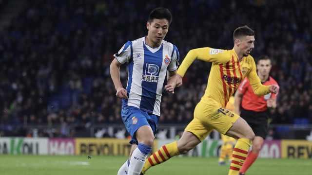 牛!武磊成首位攻破巴萨的中国球员