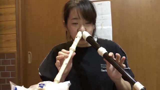 日本女孩用鼻孔吹竖笛,网友求拜师
