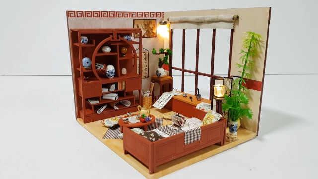 DIY书卷气浓郁的中式书房