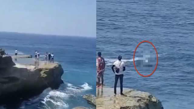 中国游客巴厘岛拍照被浪打下海身亡