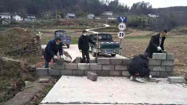 村庄砌墙封路防疫,村民不再拜年