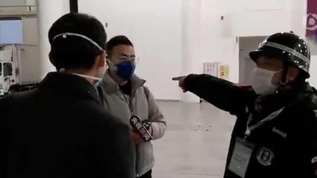 央视探访武汉红十字会,被保安驱赶