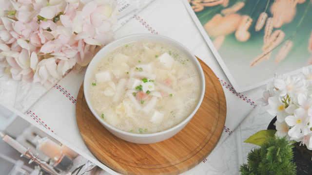 豆腐菌菇汤,冬天喝一碗超暖胃