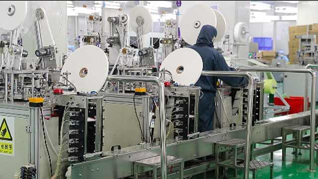 企业推掉国外订单,日产60万只口罩