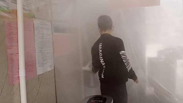 物业消毒雾棚:让大家少带病毒回家