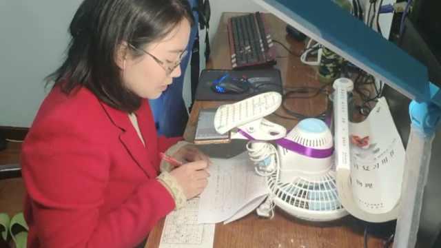 高三老师自制花式直播架,远程上课