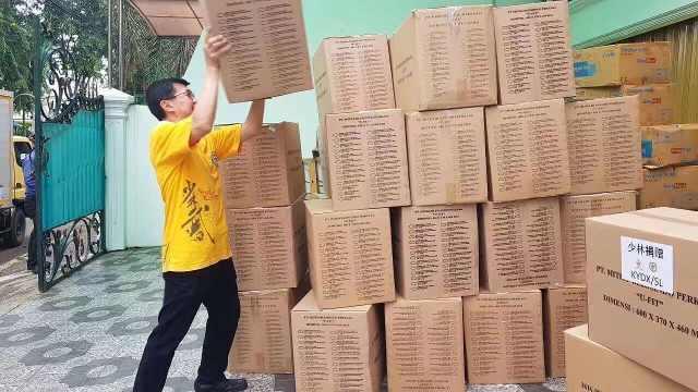 少林寺海外采购百万只口罩驰援抗疫