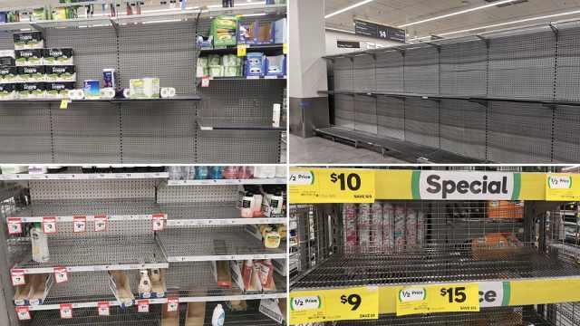 澳洲首现人传人病例,超市被抢空