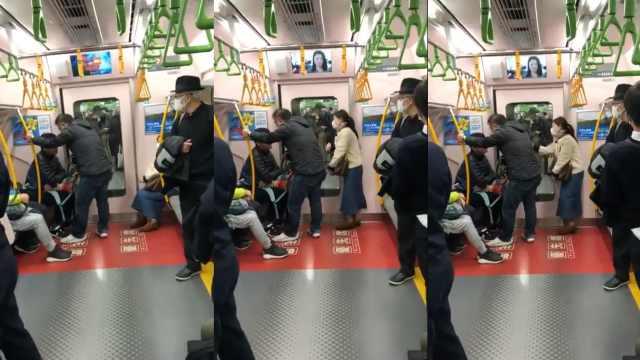 日本女子电车咳嗽,引发两男争吵