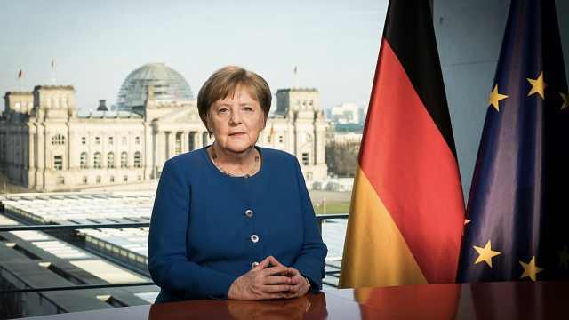 默克尔罕见发表临时讲话:这次疫情是德国二战以来最大挑战