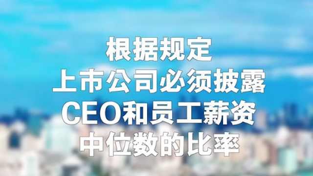 国外上市公司CEO和员工薪资榜出炉!