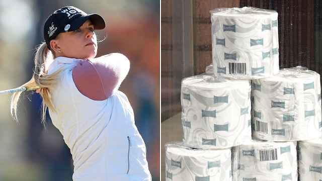 """真""""大奖""""!疫情下美国高尔夫赛正常举行,冠军奖品是卫生纸"""