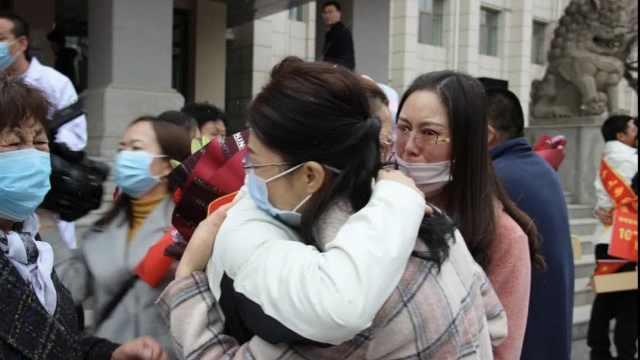 援鄂护士结束隔离回家,见到女儿感动落泪:日日夜夜思念她