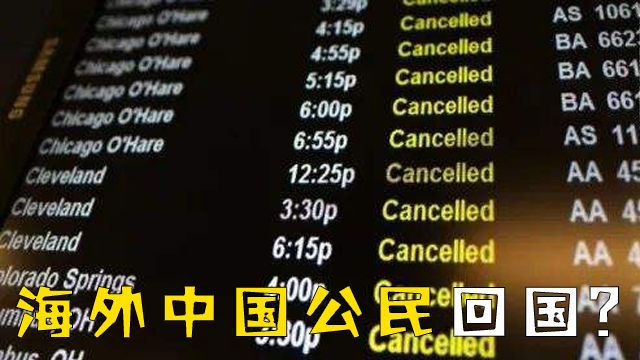 疫情严峻,海外中国公民究竟要不要回国?