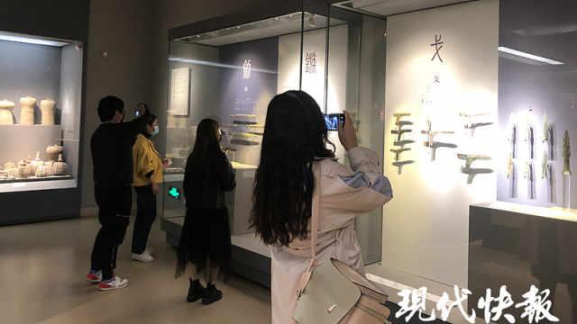 清明小长假首日,南京博物馆人气逐渐回升