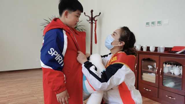 """""""妈妈去考试很快回来!""""援鄂72天,护士回家交给儿子满分答卷"""