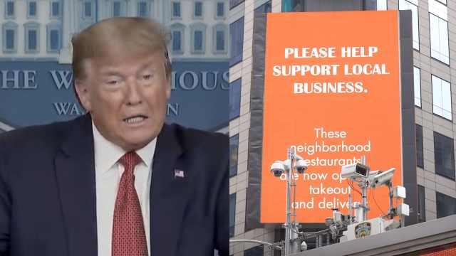 特朗普宣布重启美国经济计划:分三步,由各州州长作决定