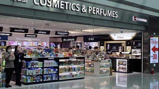直播:韩国免税店销售额因疫情暴跌90%,数十亿元商品将销毁