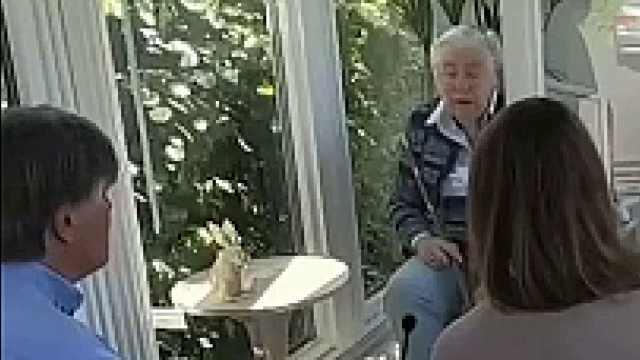 疫情下团聚新方式,荷兰养老院允许子女隔玻璃探望老人