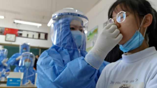 终于看到开学的希望!全县1300名高三师生进行核酸检测