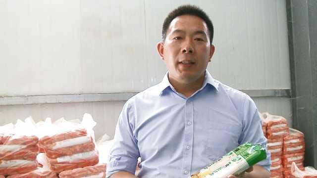 驻村第一书记为本村特色农产品代言
