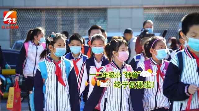 赤峰市:一二年级复课,小学生全部开学了