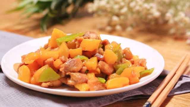 一口就上瘾的菠萝炒鸡丁,酸甜开胃,专治不爱吃饭的熊孩子