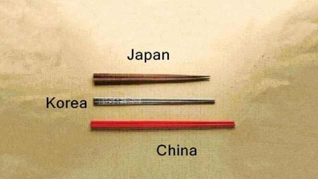 中日韩三国都使用筷子,他们筷子的用法都有什